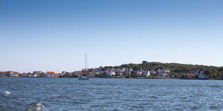 wybrzeże nad zachodni część widok scenicznym szwedzkim Fotografia Royalty Free