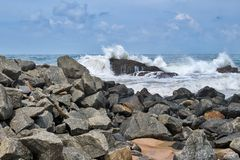 Wybrzeże ocean indyjski w Sri Lanka obraz stock