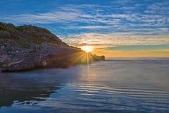 Wybrzeże Oropesa Del Mącący na Costa Azahar Obrazy Stock