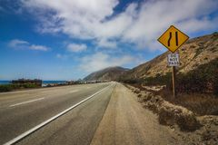 Wybrzeże Pacyfiku autostrady Drogowy znak fotografia royalty free