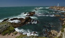 Wybrzeże Pacyfiku wrażenia punkt areny światło, Kalifornia usa Obraz Stock
