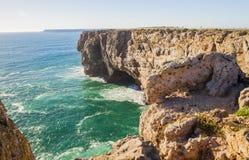 Wybrzeże Południowy Portugalia, Algarve region, Atlantycki ocean Zdjęcie Stock