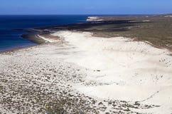 Wybrzeże po Punta Loma blisko Puerto Madryn, miasto w Chubut prowinci, Patagonia, Argentyna obrazy stock