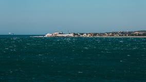 Wybrzeże ` przylądka Cienki ` przy otwartym morzem Gelendzhik, Rosja Obraz Royalty Free