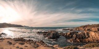 Wybrzeże pustyni des Agriates przy Ostriconi plażą w Corsica Zdjęcia Stock