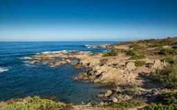 Wybrzeże pustyni Des Agriates w północnym Corsica Obrazy Royalty Free