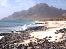 Wybrzeże Sao Vincente, jeden wyspy w przylądka Verde archipelagu Fotografia Royalty Free