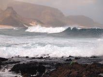Wybrzeże Sao Vincente, jeden wyspy w przylądka Verde archipelagu Zdjęcie Royalty Free