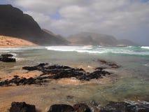 Wybrzeże Sao Vincente, jeden wyspy w przylądka Verde archipelagu Obrazy Stock