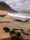 Wybrzeże Sao Vincente, jeden wyspy w przylądka Verde archipelagu Zdjęcia Royalty Free