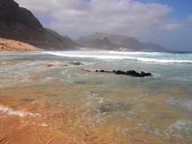 Wybrzeże Sao Vincente, jeden wyspy w przylądka Verde archipelagu Zdjęcia Stock