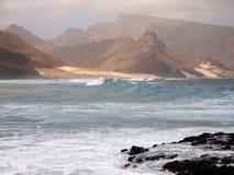 Wybrzeże Sao Vincente, jeden wyspy w przylądka Verde archipelagu Zdjęcie Stock