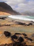 Wybrzeże Sao Vincente, jeden wyspy w przylądka Verde archipelagu Fotografia Stock