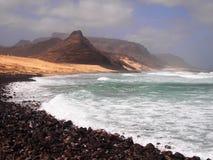 Wybrzeże Sao Vincente, jeden wyspy w przylądka Verde archipelagu Obraz Royalty Free