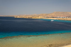 Wybrzeże w Egipt morza czerwonego zdjęcia royalty free
