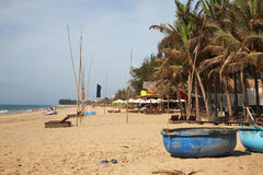 Wybrzeże w Phan Thiet Wietnam fotografia stock
