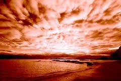 wybrzeże wschód słońca Obrazy Royalty Free