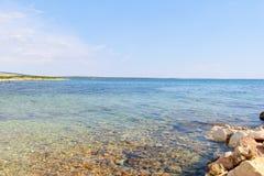 Wybrzeże wyspa Pag przegapia morze śródziemnomorskie Obrazy Stock