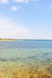 Wybrzeże wyspa Pag przegapia morze śródziemnomorskie Obraz Stock