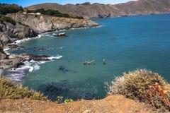 Wybrzeże wzdłuż punktu Bonita, Kalifornia Zdjęcia Royalty Free
