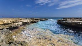 Wybrzeże z skałami Obrazy Stock