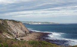 Wybrzeże Baskijski karnisz Obrazy Stock