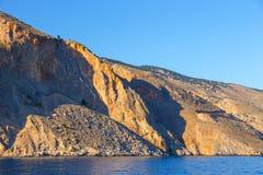 Wybrzeże blisko Agia Roumeli, Grecja Fotografia Royalty Free