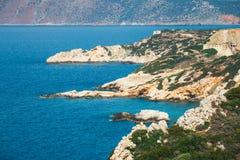 Wybrzeże blisko Agios Nikolaos na Crete Fotografia Royalty Free