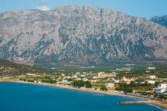 Wybrzeże blisko Agios Nikolaos na Crete, Grecja Obrazy Royalty Free