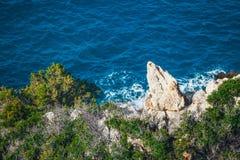 Wybrzeże blisko Agios Nikolaos na Crete, Grecja Obrazy Stock