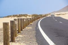 Wybrzeże blisko Corralejo, wyspa kanaryjska Fuerteventura, Hiszpania Zdjęcie Stock