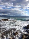 wybrzeże burzliwe Obrazy Royalty Free