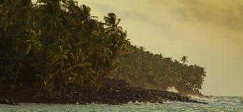 wybrzeże burzliwe Zdjęcia Royalty Free