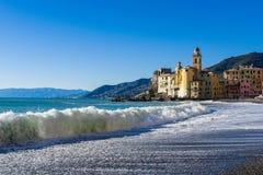 Wybrzeże Camogli Zdjęcie Royalty Free