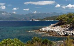 Wybrzeże Corsica wyspa Obrazy Stock