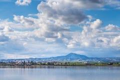 Wybrzeże Cypr blisko antycznego miasta Curio, Limassoluins Zdjęcia Royalty Free