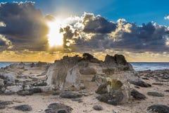Wybrzeże Cypr blisko antycznego miasta Curio, Limassoluins Obraz Royalty Free