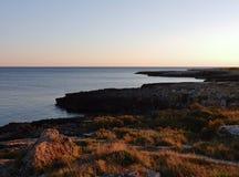 Wybrzeże Dziki port Obrazy Royalty Free