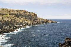 Wybrzeże morze w Garachico Fotografia Royalty Free
