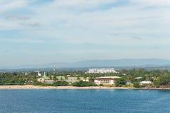 Wybrzeże ocean indyjski, Toamasina, Madagascar Obrazy Stock