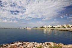 Wybrzeże od Manfredonia Puglia (FG) Zdjęcie Stock