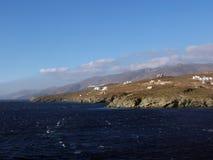 wybrzeże ostro Greece andros Fotografia Royalty Free