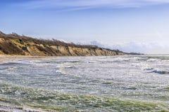 Wybrzeże przy Ahrenshoop Zdjęcia Stock