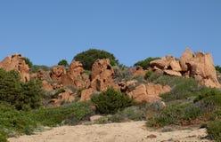 Wybrzeże przy Sardinia Zdjęcie Stock