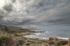 Wybrzeże pustyni des Agriates w Corsica Zdjęcie Stock