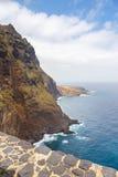 Wybrzeże Tenerife blisko Punto Teno latarni morskiej Obraz Royalty Free