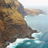 Wybrzeże Tenerife blisko Punto Teno latarni morskiej Obrazy Royalty Free