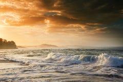 Wybrzeże w Costa Rica zdjęcie stock