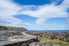 Wybrzeże z falezami blisko Pennan Zdjęcie Royalty Free