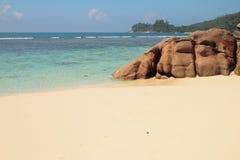 Wybrzeże zatoka Lazare (Baie Lazare) Mahe, Seychelles Zdjęcia Stock